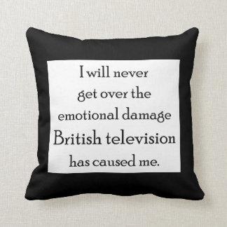 Almofada A televisão britânica danificou-me emocionalmente