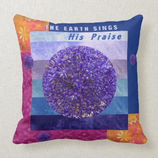 Almofada A terra canta seu travesseiro decorativo do