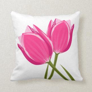 Almofada A tulipa floresce o travesseiro decorativo