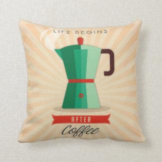 Almofada A vida começa após o café