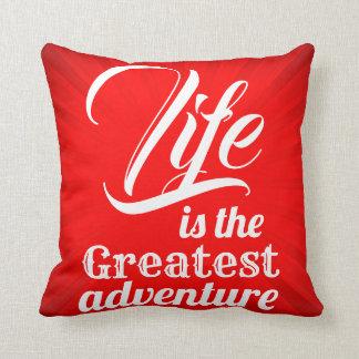 Almofada A vida é a grande aventura