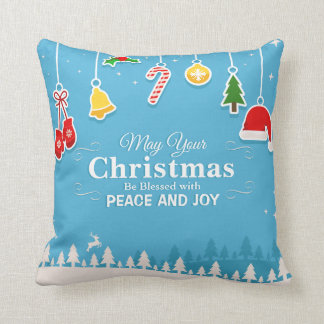 Almofada Abençoado com o travesseiro decorativo do Natal |