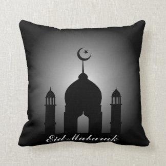 Almofada Abóbada da mesquita e silhueta do minarete