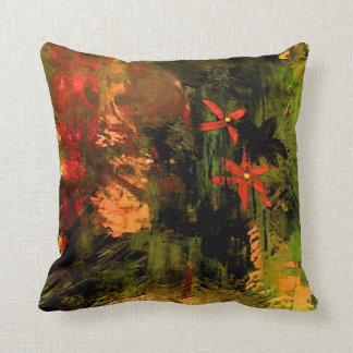 Almofada Abstrato alaranjado da flor