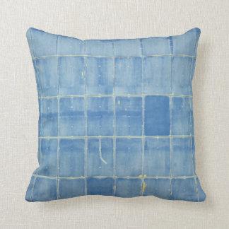 Almofada Abstrato azul do retângulo