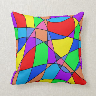 Almofada Abstrato colorido dos quadrados
