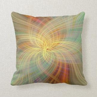 Almofada Abstrato colorido morno. O positivo do conceito