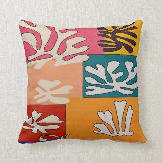 Almofada Abstrato com as flores tropicais da hera