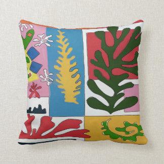 Almofada Abstrato com as folhas tropicais da hera