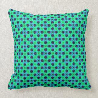 Almofada Abstrato geométrico azul roxo verde