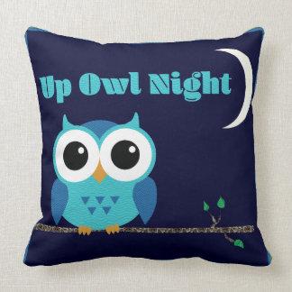 Almofada Acima da noite da coruja