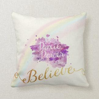 Almofada Acredite no poder do travesseiro dos duendes