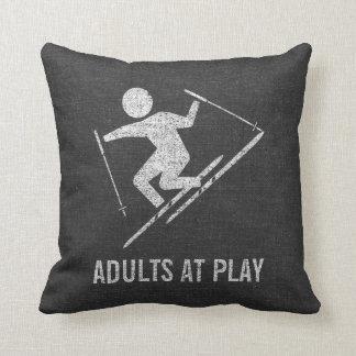 Almofada Adultos do esqui no jogo
