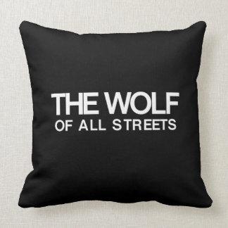 Almofada Agradável o lobo de todo o impressão das ruas