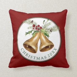 Almofada Aguarela do Natal | - visco & Bels do azevinho