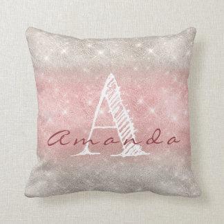 Almofada Aguarela Pastel cinzenta cor-de-rosa conhecida de