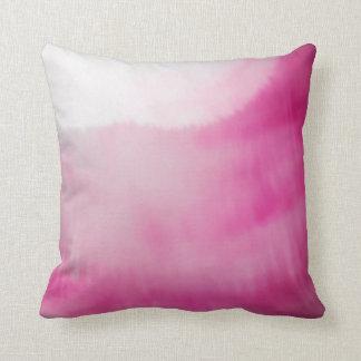 Almofada Aguarelas modernas do rosa & as brancas do líquido