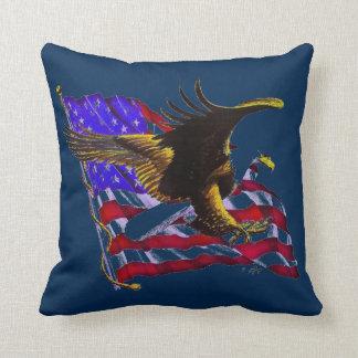 Almofada Águia americana & bandeira