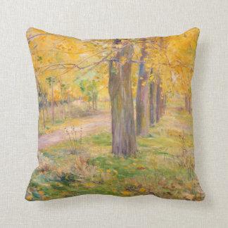 Almofada álamos Amarelo-folheados por Kuroda Seiki