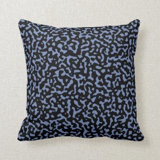 Almofada Aleatoriedade azul e preta