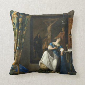 Almofada Alegoria de Johannes Vermeer da fé católica
