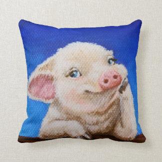 Almofada Algum porco pelo travesseiro decorativo do algodão