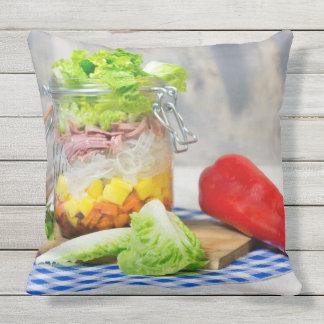 Almofada Almoço em um vidro