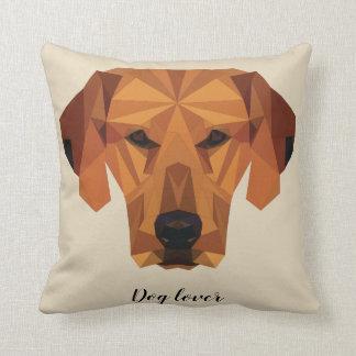 Almofada Amante do cão - baixo poli - coxim