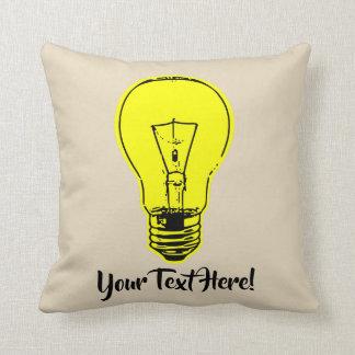 Almofada Amarelo da lâmpada