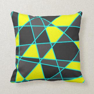 Almofada amarelo de néon brilhante geométrico elegante e