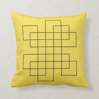 Almofada Amarelo do labirinto