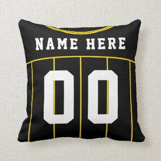 Almofada Amarelo do travesseiro do número do nome do jérsei