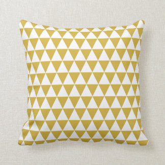 Almofada Amarelo geométrico da mostarda do teste padrão do