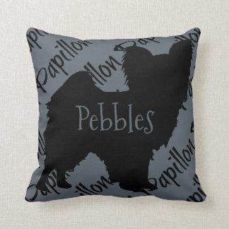 Almofada Ame meu travesseiro do cão de Papillon