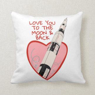 Almofada Ame-o à lua & à parte traseira - coxim
