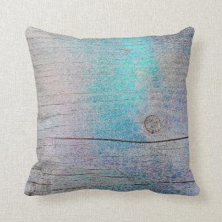 Almofada Ameixa suja de madeira metálica Glam roxa de