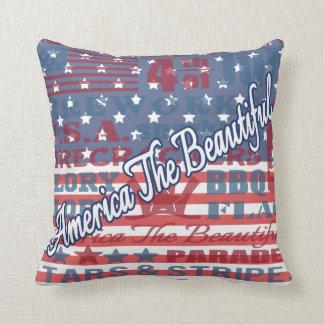 Almofada América patriótica o Dia da Independência bonito
