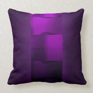 Almofada Ametista 3-Dimensional roxa da ameixa da geometria