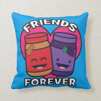 Almofada Amigos para sempre - manteiga de amendoim e geléia