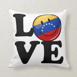 Almofada Amor da bandeira de sorriso de Venezuela