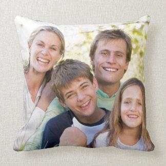 Almofada Amor e sorriso felizes da família