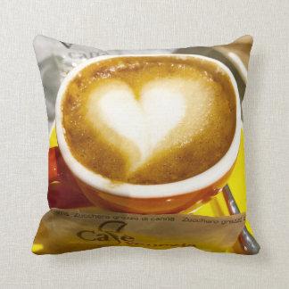 Almofada Amoreccino mim café do italiano do coração
