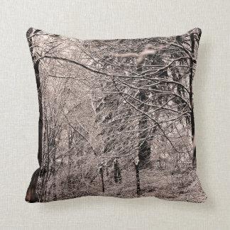 Almofada Angra do inverno e travesseiro da floresta do