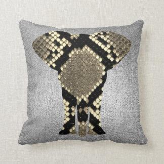 Almofada Animal conceptual da pele do elefante do pitão das