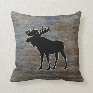 Almofada Animal ocidental de madeira rústico dos alces de |