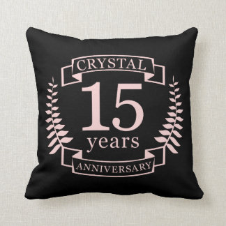 Almofada Aniversário de casamento de cristal 15 anos