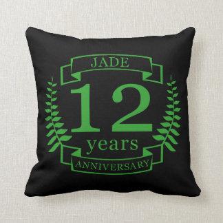 Almofada Aniversário de casamento de pedra preciosa do jade