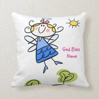 Almofada Anjo bonito do Goddaughter personalizado