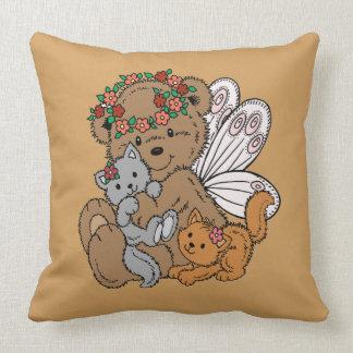 Almofada Anjo do urso com gatinhos