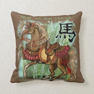 Almofada Ano chinês do zodíaco do cavalo